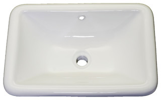 Aristide Drop-In Vanity Sink, White
