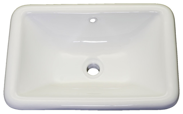 Vanity Cornet Porcelain Rectangular Drop In Sink White