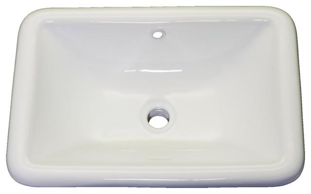 1st Avenue   Aristide Drop In Vanity Sink, White   Bathroom Sinks