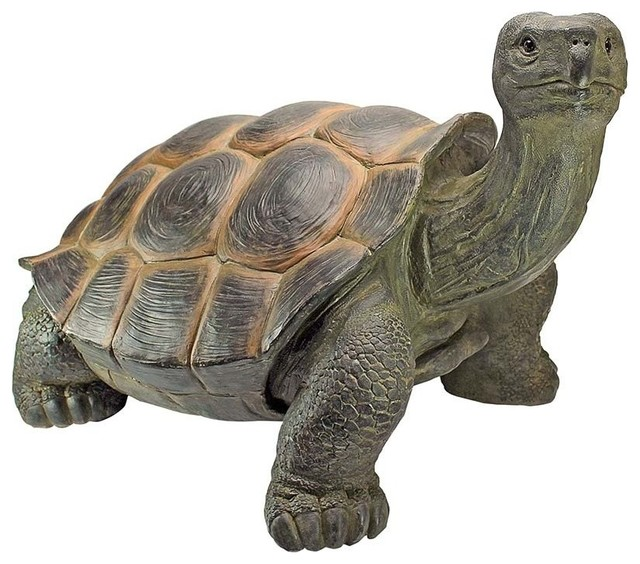 The Cagey Tortoise Statue, Large Contemporary Garden Statues And Yard