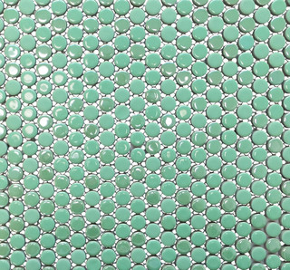 Gl Stone Tile Penny Round Porcelain Mosaic View In Your Room Houzz