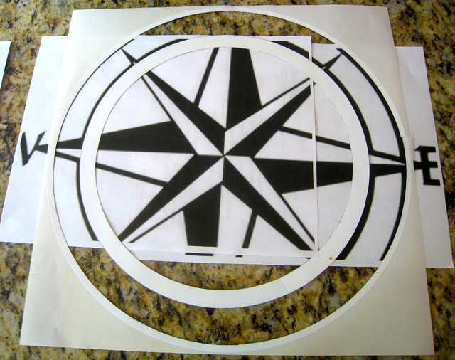 Compass Rose Reverse Stencil