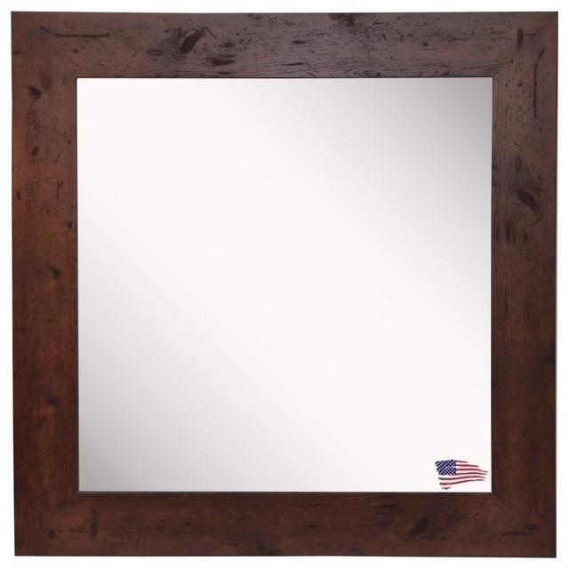 "American Made Rayne Rustic Dark Walnut, 25.5""x25.5""."
