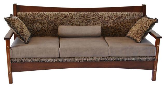 Craftsman Leather Sofa Craftsman Revolutionary Walnut