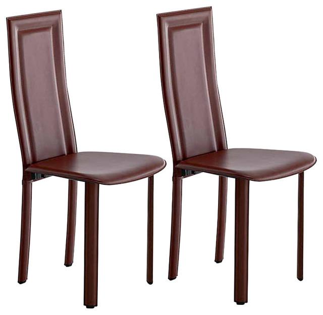 Superb Tess Dark Red Leather Dining Chair Creativecarmelina Interior Chair Design Creativecarmelinacom