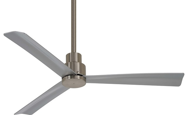"""Minka-Aire F786-Bnw Simple, 44"""" Ceiling Fan, Brushed Nickel Wet Finish."""