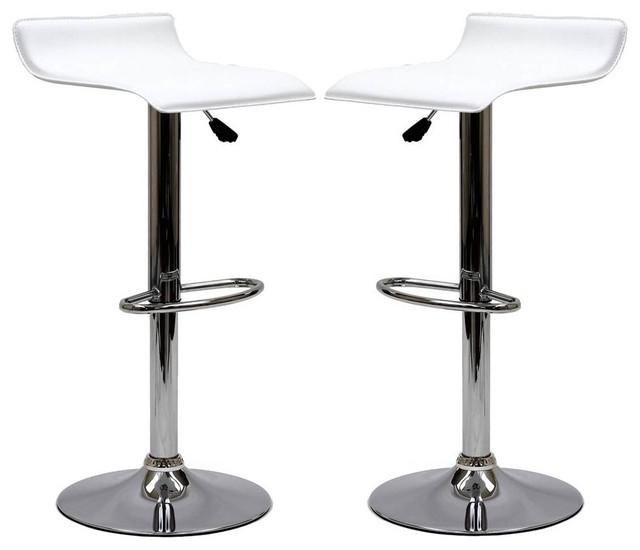 Modway Eei-937-Whi Gloria Bar Stool, Set Of 2, White.