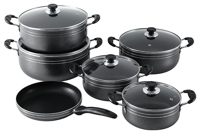 Major-Q Seemann 11 Piece Non-Stick Cookware Set.
