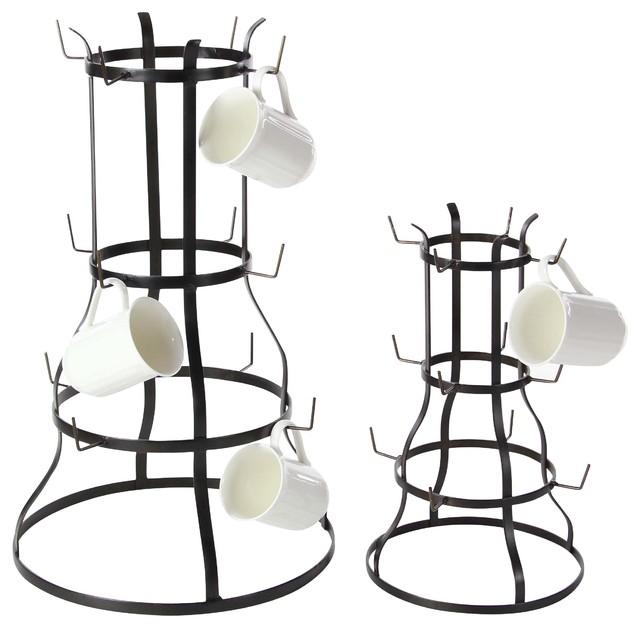 2-Piece Metal Mug Rack Set