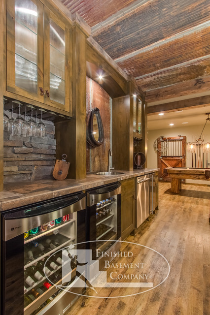 Queensland basement traditional basement minneapolis by finished basement company - Rustic bar ideas for basement ...