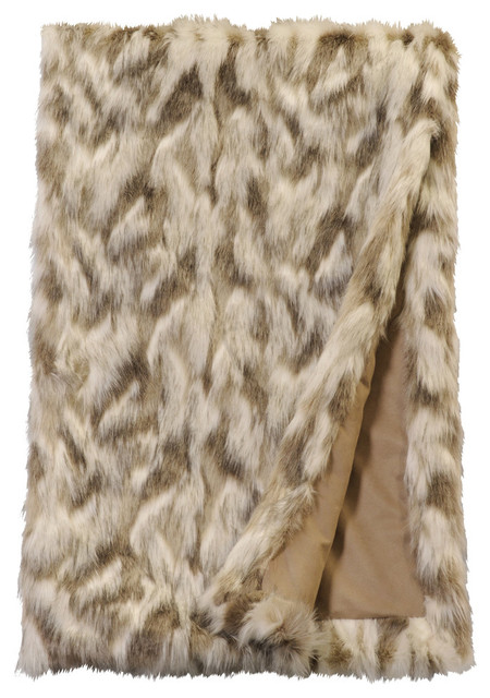 Tibetan Fox Faux Fur Throw Rustic Throws By Wooded River Inc