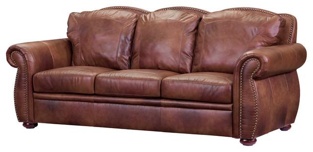 Exceptional Leather Italia USA Cambria Arizona Sofa, Marco Traditional Sofas