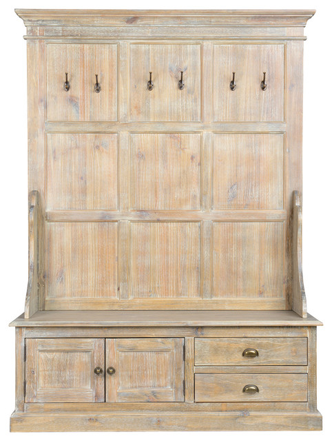 Pleasing Fanwood Rustic Pine Wood Entryway Storage Bench By Kosas Home Beatyapartments Chair Design Images Beatyapartmentscom