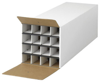 Safco - Safco Compact Tube-Stor KD 16 Compartment Wood Roll Files Storage in White & Reviews | Houzz