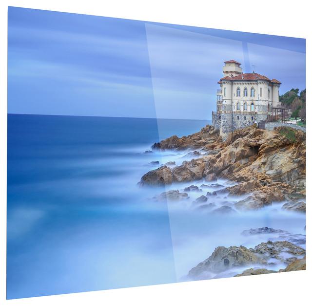 Quot Beautiful Italian Seashore View Quot Metal Art Beach Style