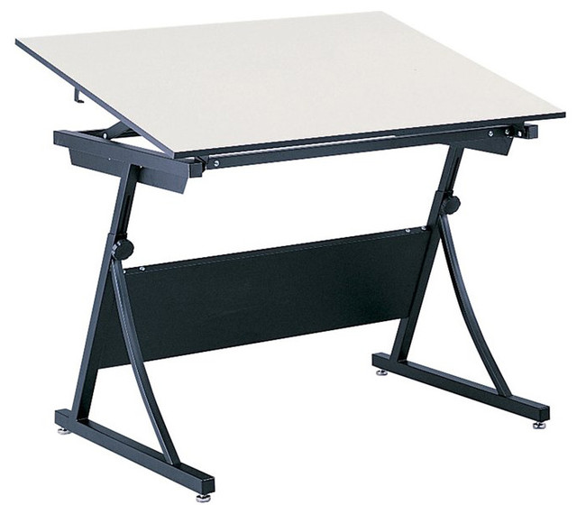 Safco Planmaster Height Adjule Drafting Table Base Contemporary Tables By Homesquare