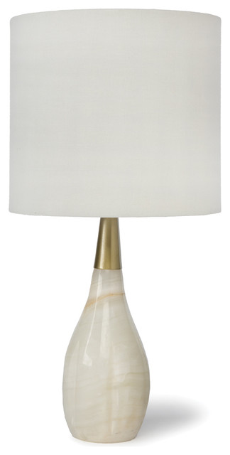 ina modern classic alabaster tear drop brass table lamp