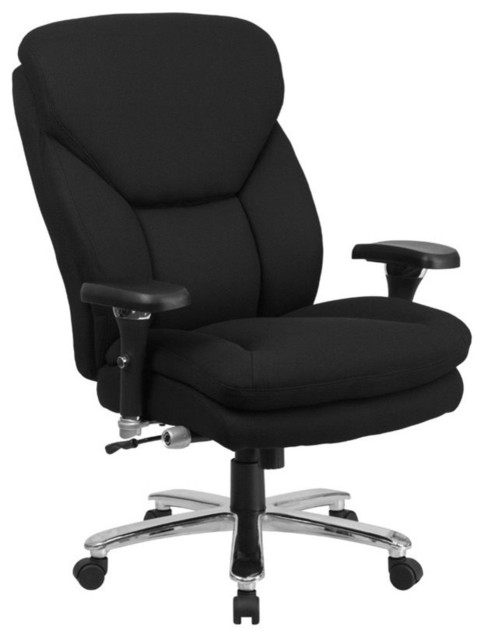 flash furniture big and tall leather swivel office chair black