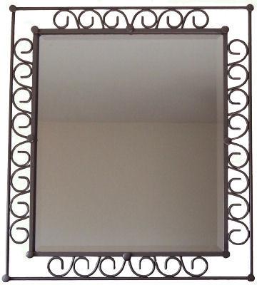 Hoop Beveled II Wrought Iron Mirror
