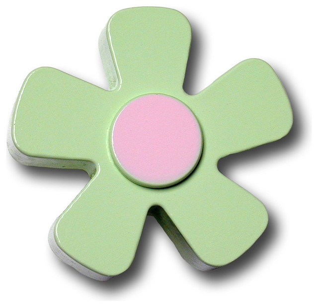Pastel Daisy Wooden Drawer Pull - Traditional - Cabinet And Drawer Handle Pulls - by OneWorld