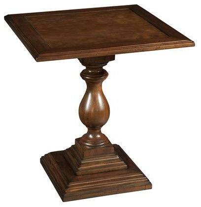 hekman vintage european square pedestal end table - Hekman Furniture