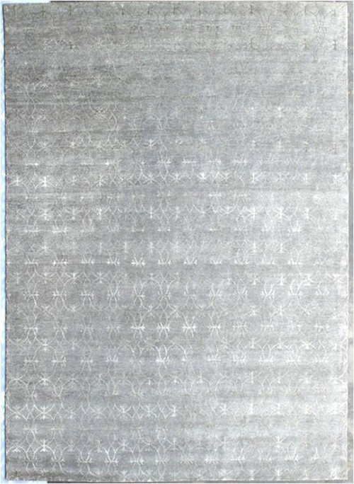 Glaze MD 1007 01 Grey Silver Rug, Rectangle 10'x14'