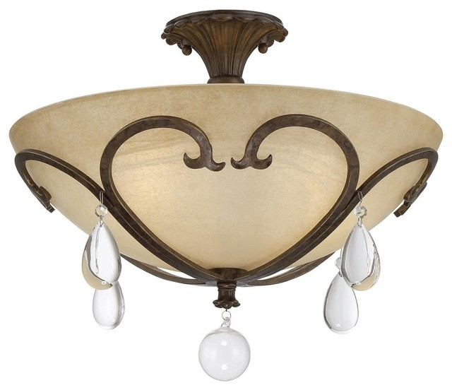 savoy house savoy house florence 3 light semi flush new