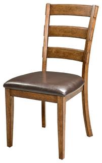 Imagio Home Santa Clara Ladder Back Side Chair With PU, Set of 2