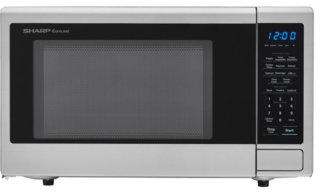 Carousel 1.1 Cu. Ft. 1000w Countertop Microwave Oven With Popcorn Preset.