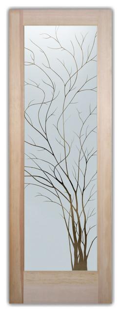 Interior Glass Door Sans Soucie Art Glass Wispy Tree Negative.