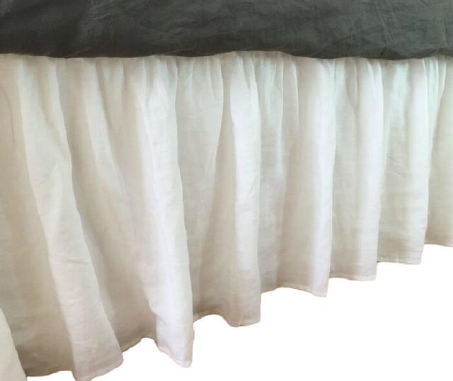 White Bed Skirt King :