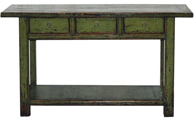 Bon Olive Green Console Table