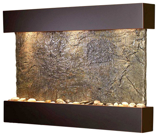 Reflection Creek Wall Fountain - Contemporary - Indoor Fountains ...