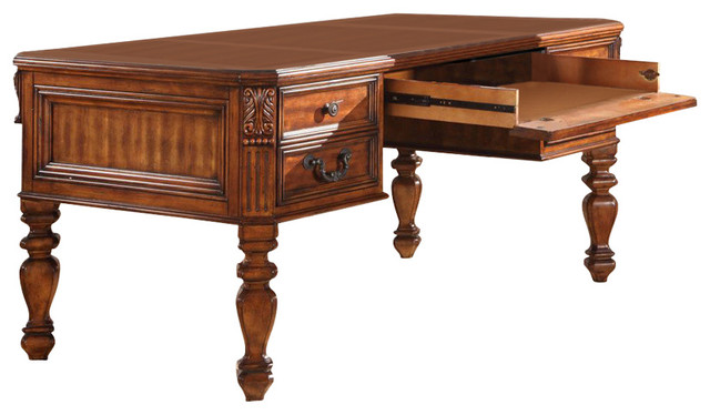 Parker House Grand Manor Granada Writing Desk  Vintage Walnut  traditional desks and. Parker House Grand Manor Granada Writing Desk  Vintage Walnut