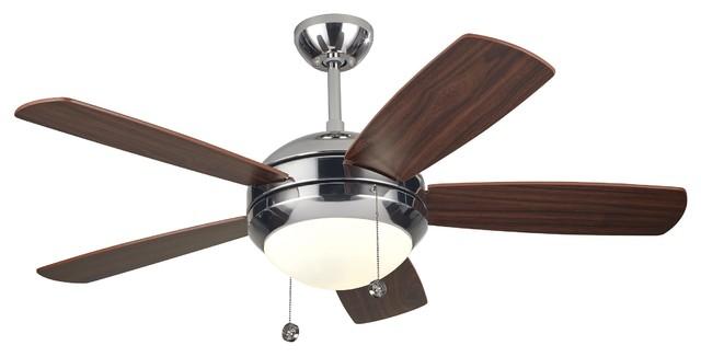 """Monte Carlo Fan Company 44"""" Discus II Fan, Polished Nickel"""