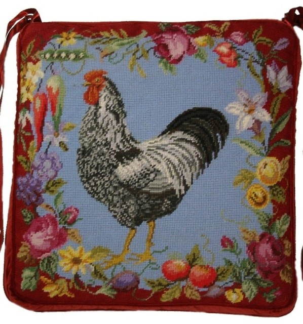 Rooster Chair Pad 18x18 Traditional Seat Cushions By Hkh Intl