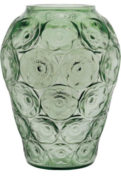 Lalique Crystal Vase Green Contemporary Vases By Fine Brand Sales
