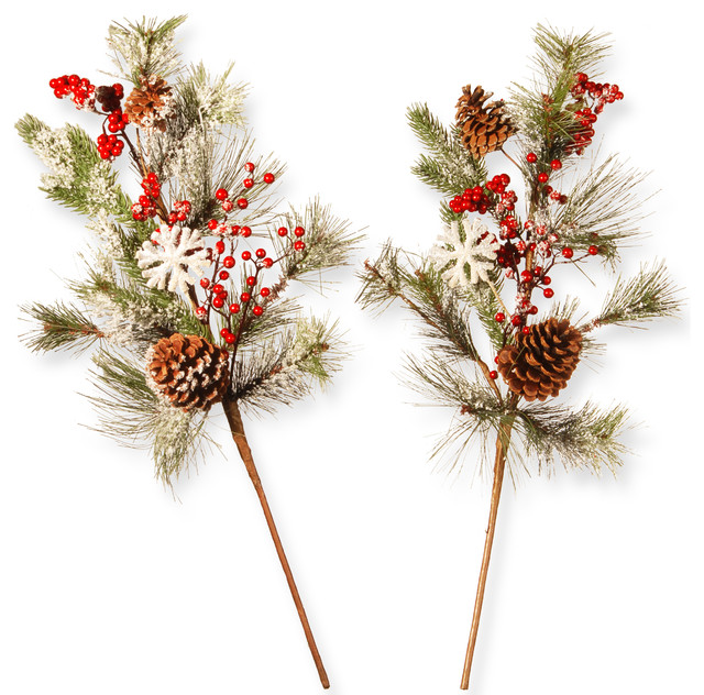 "26"" Holiday Branch Spray Set."