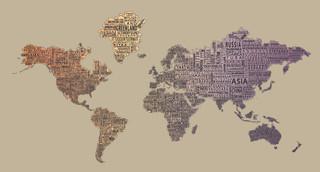 1-World Text Map Wall Decal - Desert Fade - Modern - Wall Decals - by 1-World Globes & Maps