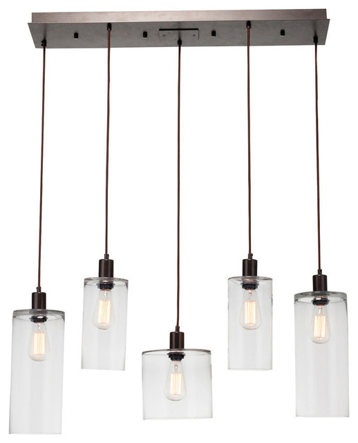 Apothecary Linear Suspension, Metallic Beige Silver.