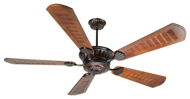 "Craftmade Dc Epic Oiled Bronze 70"" Outdoor Ceiling Fan And Remote Control."