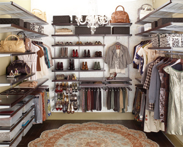 Contemporary Closet The Containerstore  Walk In Closet Idea