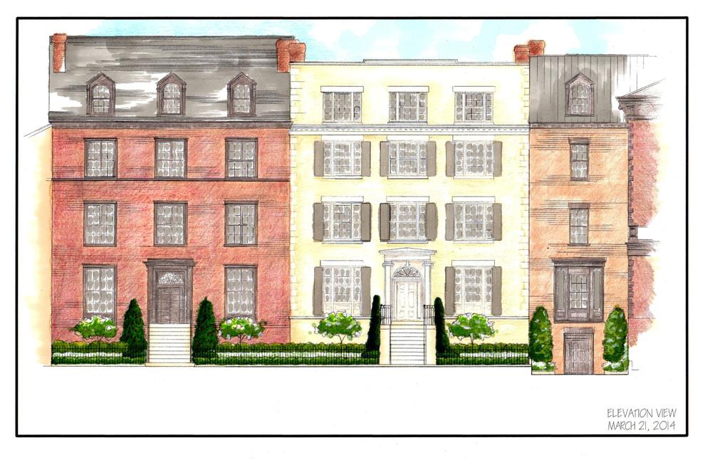 Elegant Townhouse Garden Plan
