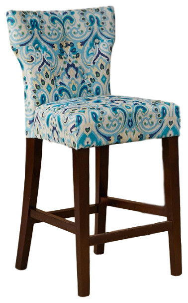 Avila Tufted Back Counter Stool Contemporary Bar