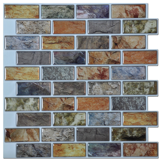 12 Quot X12 Quot Peel And Stick Kitchen And Bathroom Backsplash