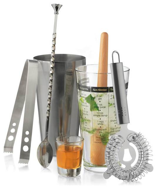 0135e04fb3ec7 Libbey Mixologist 7-Piece Set - Contemporary - Cocktail Shakers And Bar  Tool Sets - by Libbey