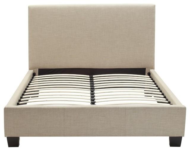 Vincent De Paul Linen Platform Bed, Queen.