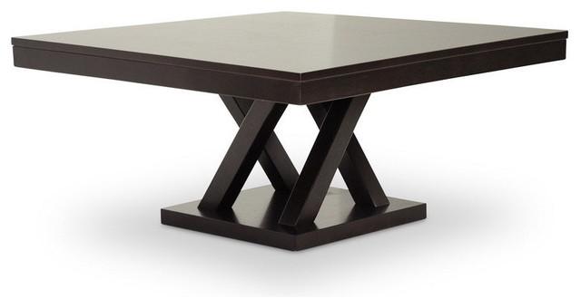 Baxton Studio Everdon Dark Brown Modern Coffee Table.