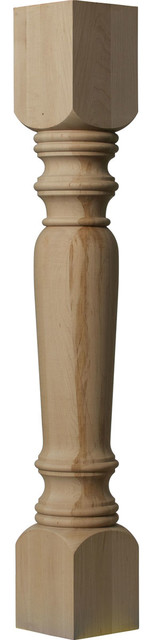 "Legacy Tapered Cabinet Column, Rubberwood, 5""w X 5""d X 35 1/2""h."