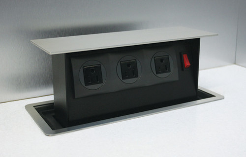 kitchen counter outlets. retractable designer power ports for